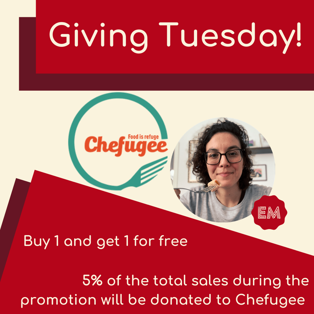 Giving Tuesday Chefugee buy 1 get 1 for free